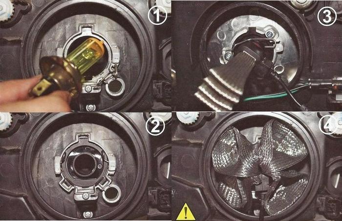 instrukcja montażu Żarówka zestaw LED H7 5000LM Philips Xenon CANBUS